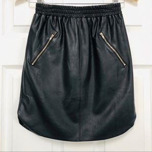 Missguided black faux leather mini skirt